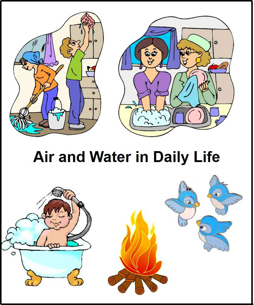 Example of Air & Water in daily life