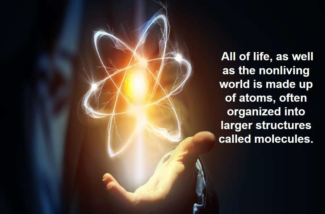 Example of Atoms and Molecules in daily life