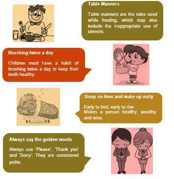 Science Class 1 Good Habits and Safety Rules do's
