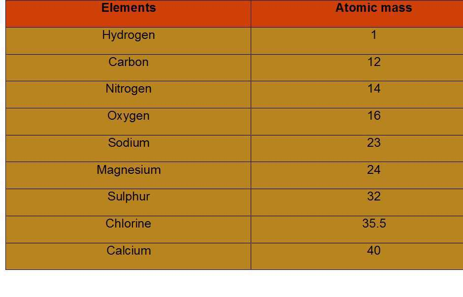 Science Class 9 Atoms and Molecules atomic mass